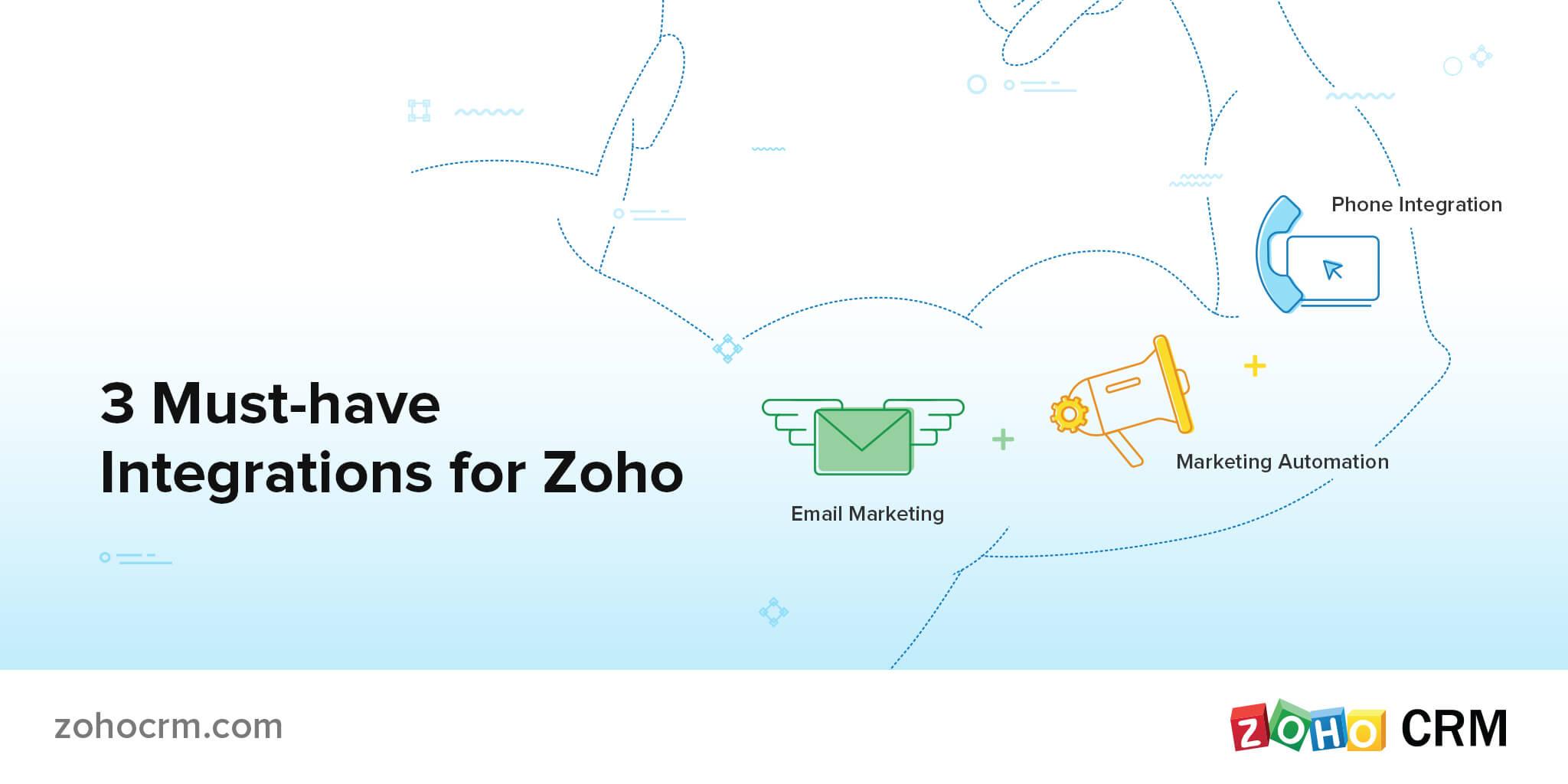 intégrations incontournables de Zoho CRM
