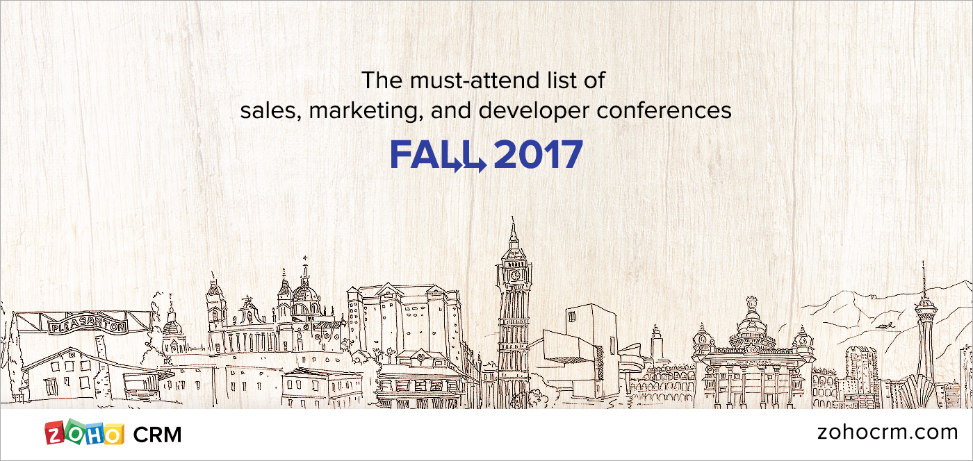 The must-attend list of sales, marketing and developer conferences: Fall 2017