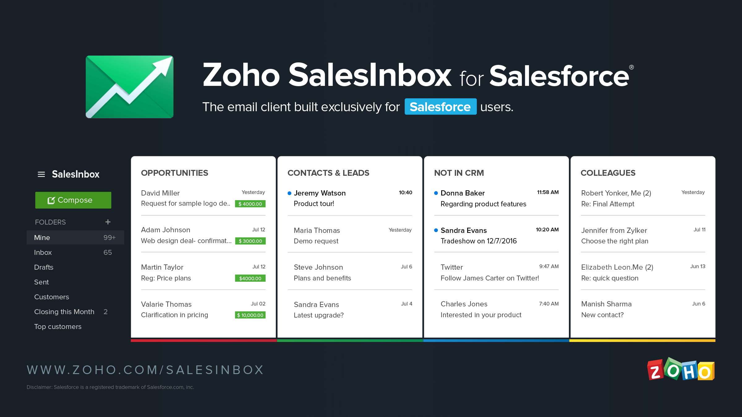 Announcing Zoho SalesInbox for Salesforce