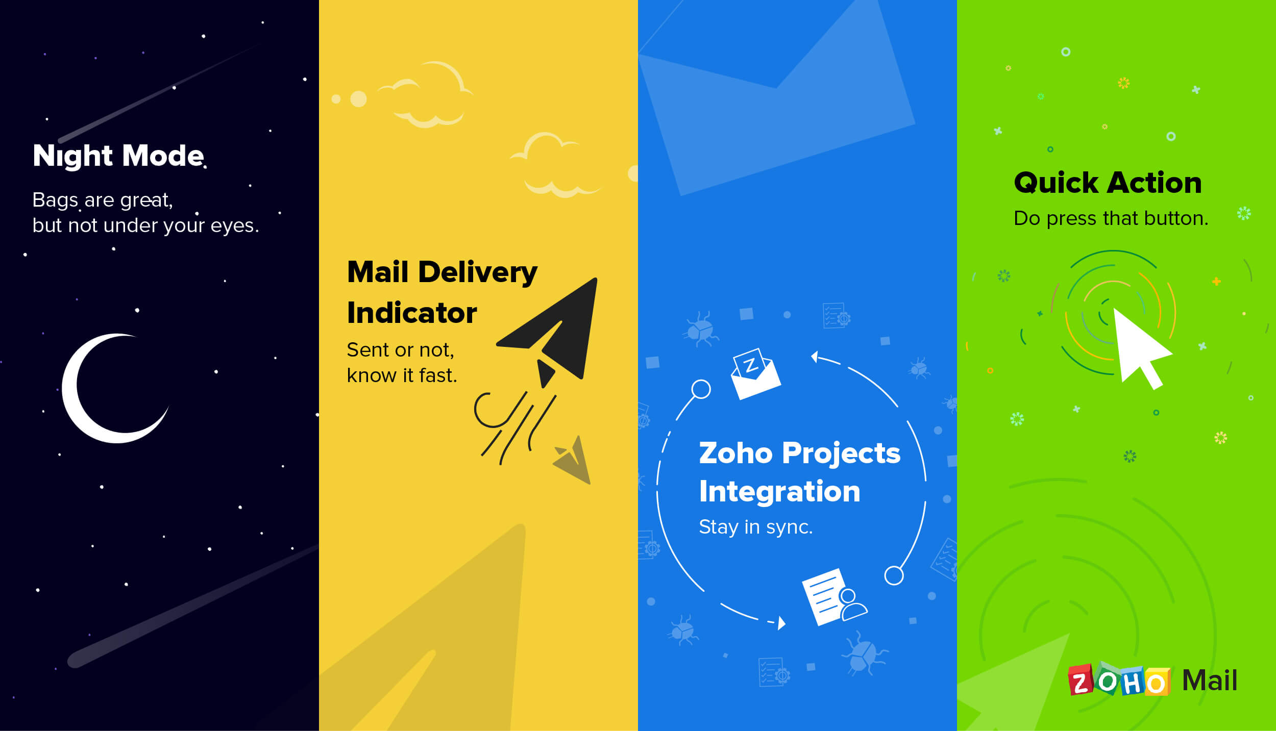 Announcing Night Mode, Quick Actions, and more in Zoho Mail