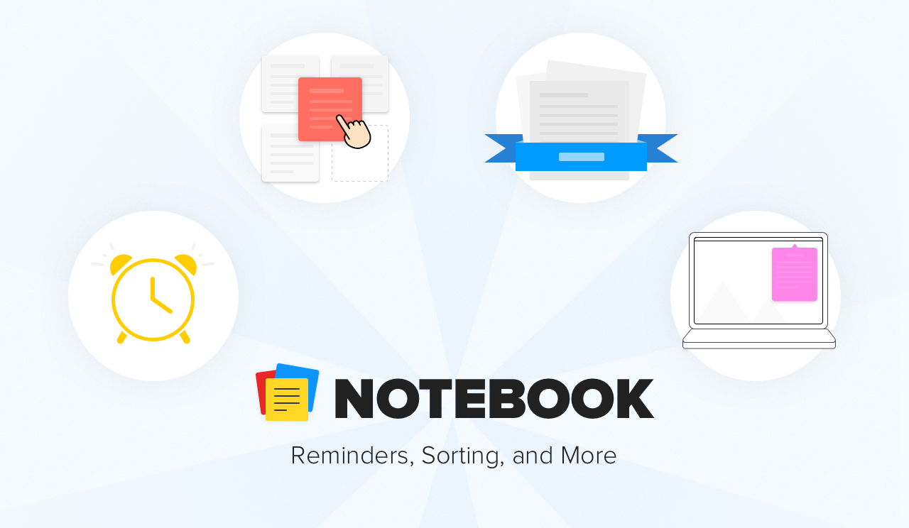 Notebook Update: Introducing Reminders, Note Sorting, and More