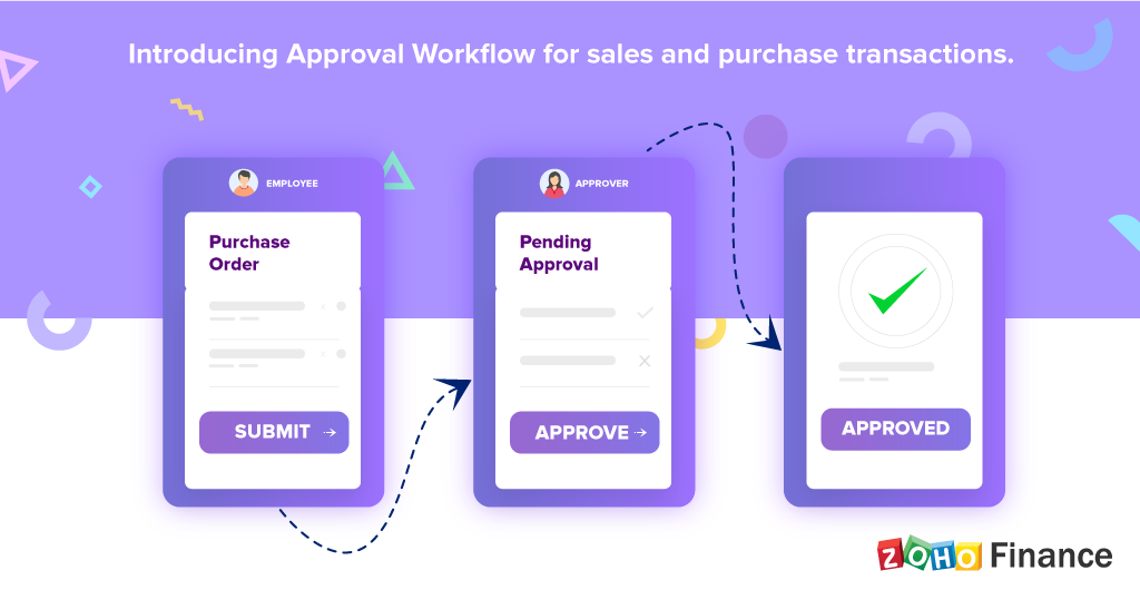 Submit. Verify. Approve. Introducing Approval Workflow for sales and purchase transactions
