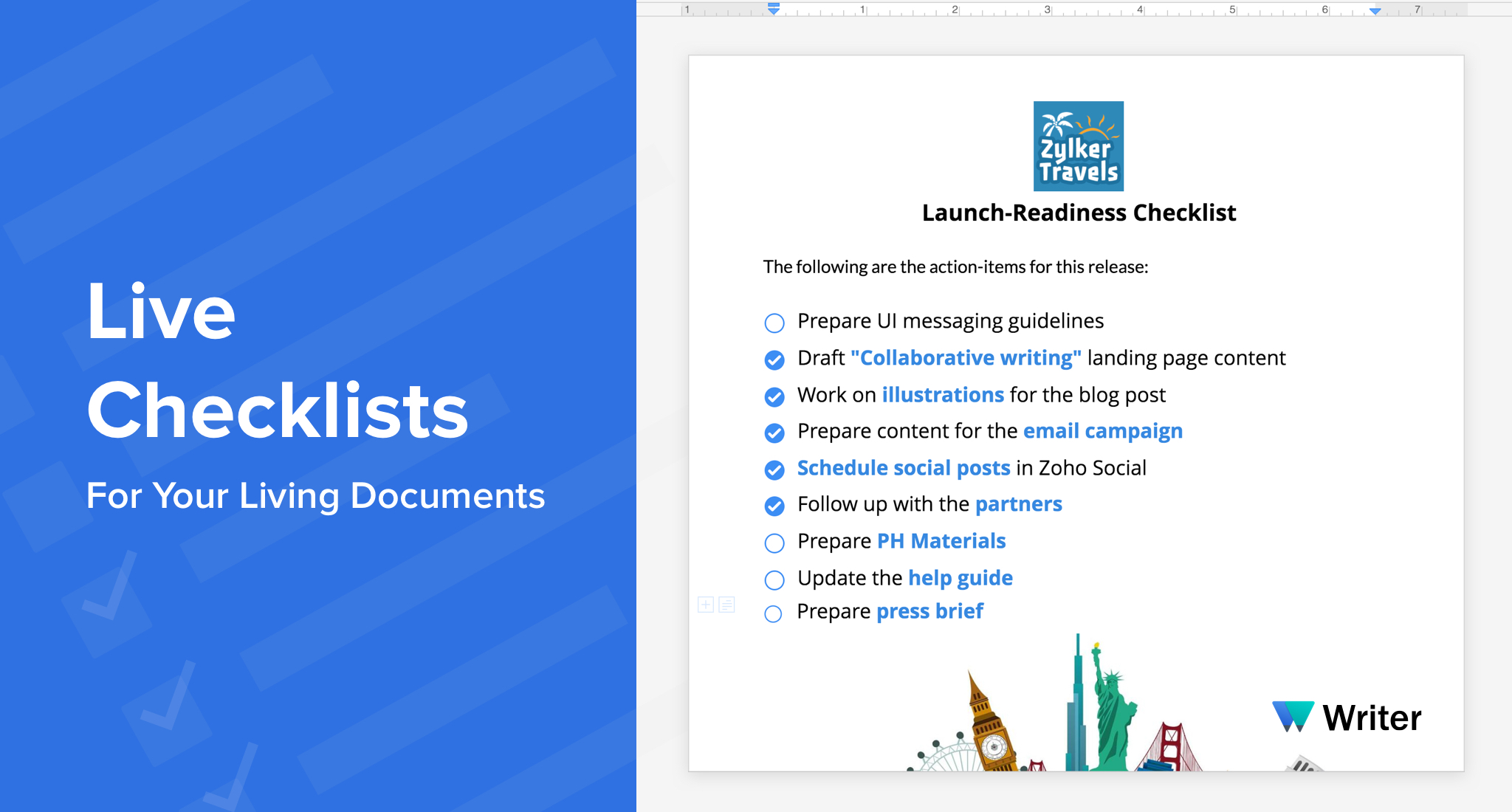 how to create a checklist in docs