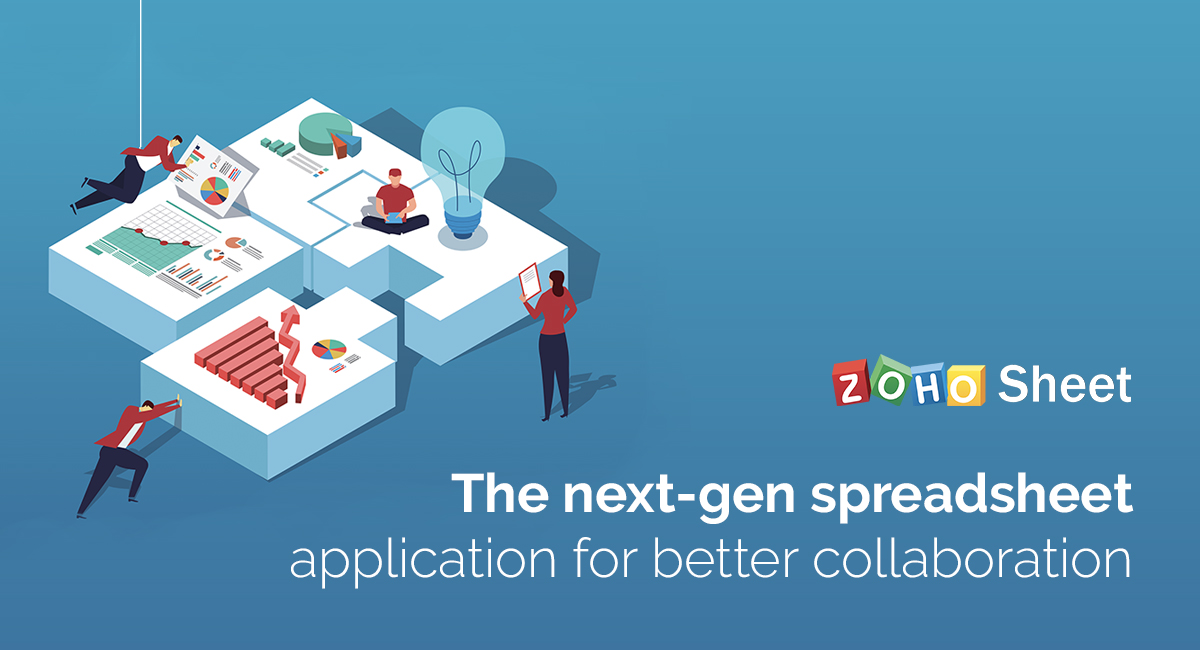 Explore the ways Zoho Sheet can help your team work together.