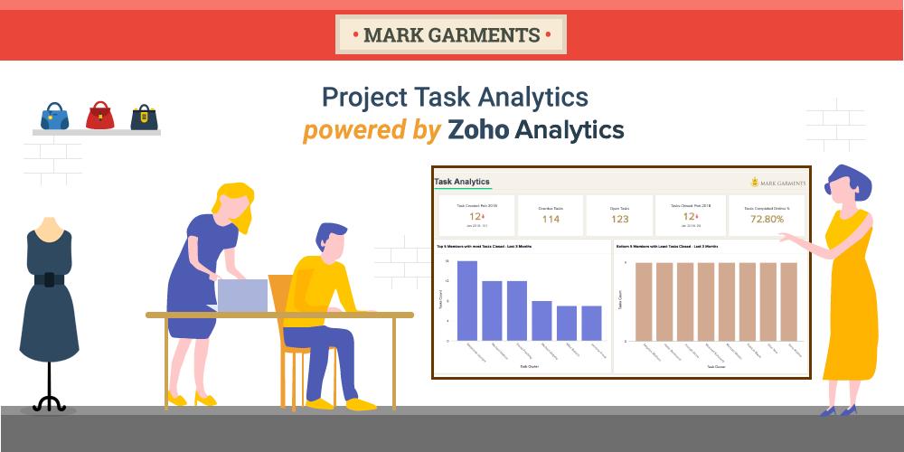 Project Task Analytics Powered by Zoho Analytics