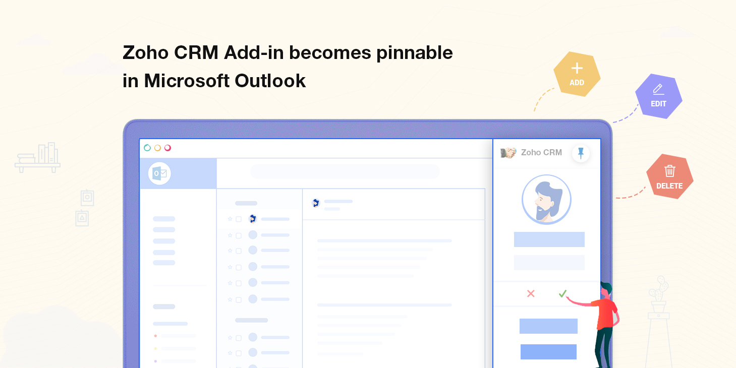 Zoho CRM-Outlook Add-in: Announcing Stylish, Interactive UI with New Features