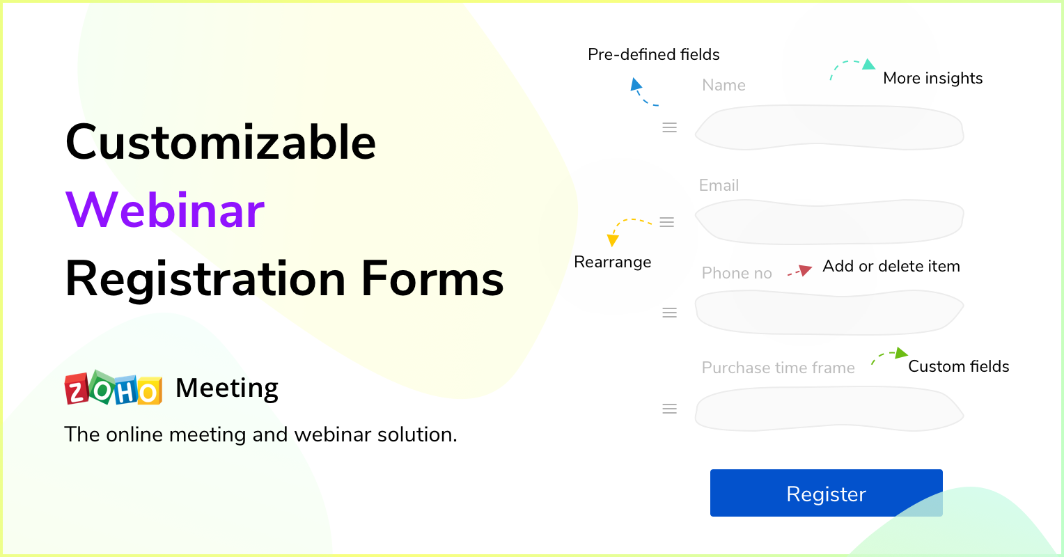 Customizable Webinar Registration Forms