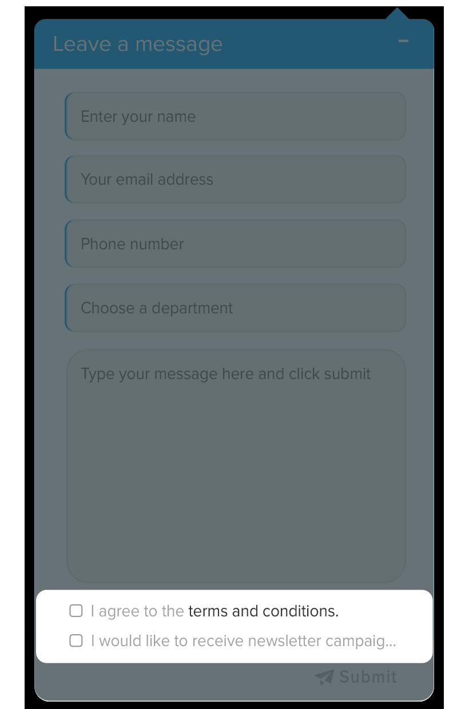 Offline chat banner