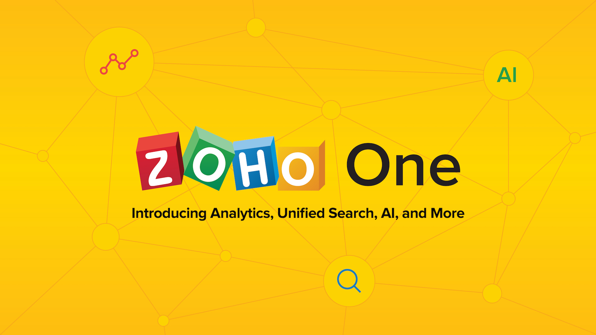 One Year of Zoho One: Introducing Analytics, Unified Search, AI, and More