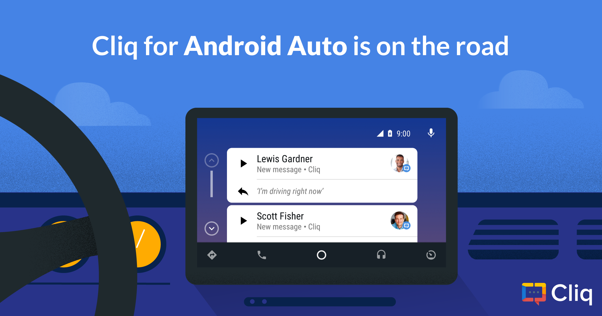 Cliq for Android Auto is on the road