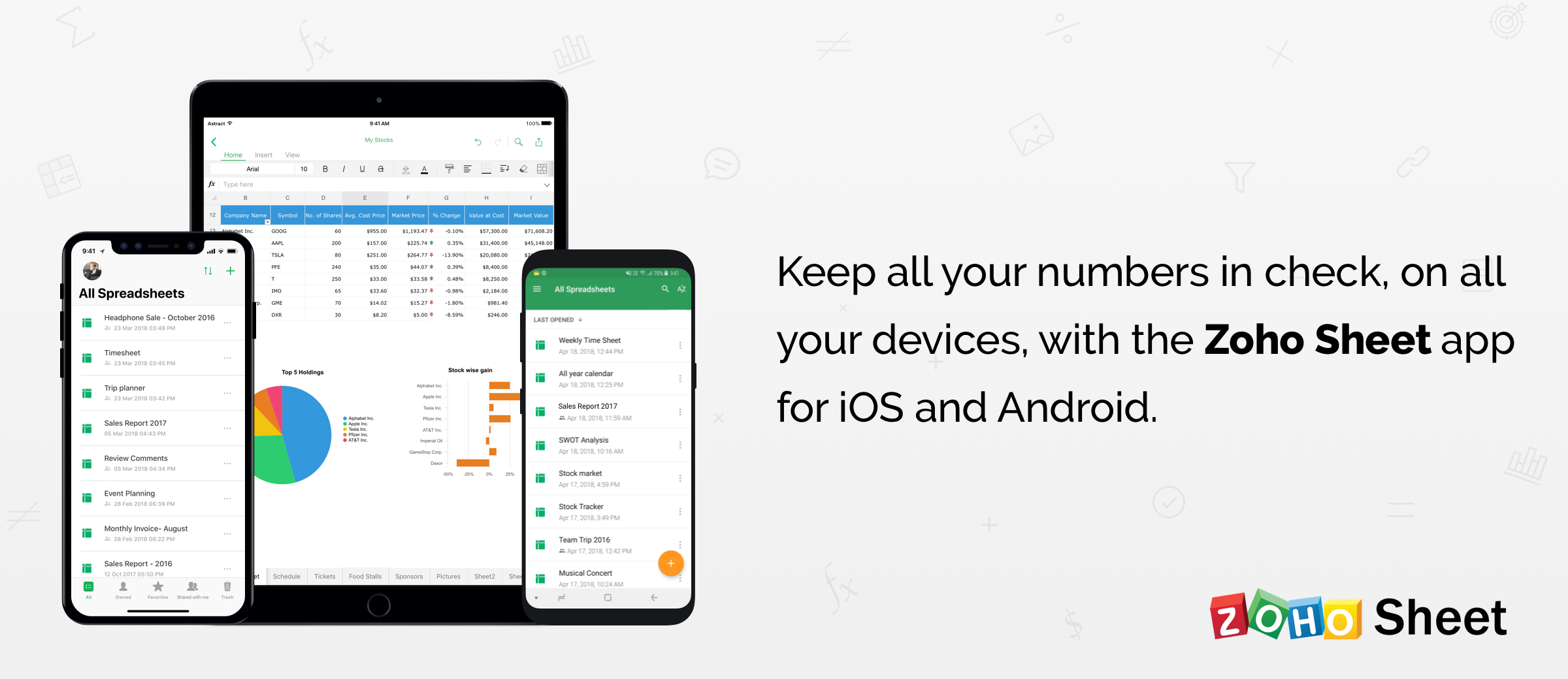 Collaborative Spreadsheets on Your Smartphone