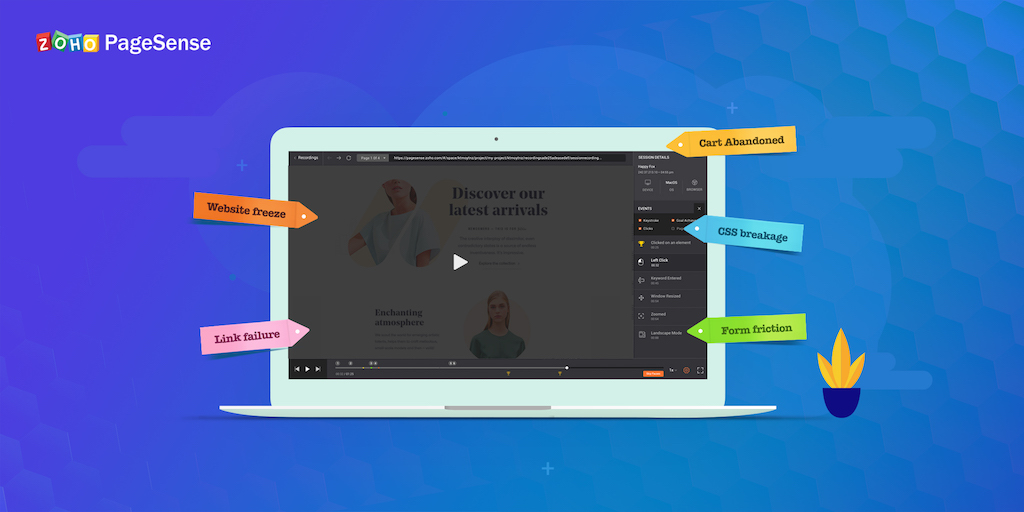 Zoho PageSense: Introducing Tagging in Session Recording