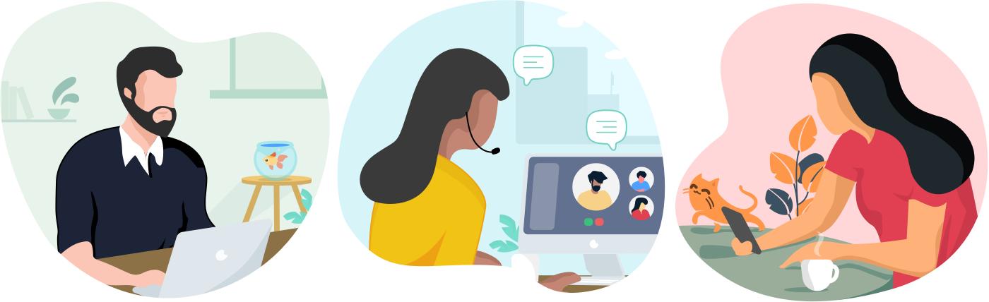 Bridging the gap: Using Zoho Connect to work remotely - Zoho Blog