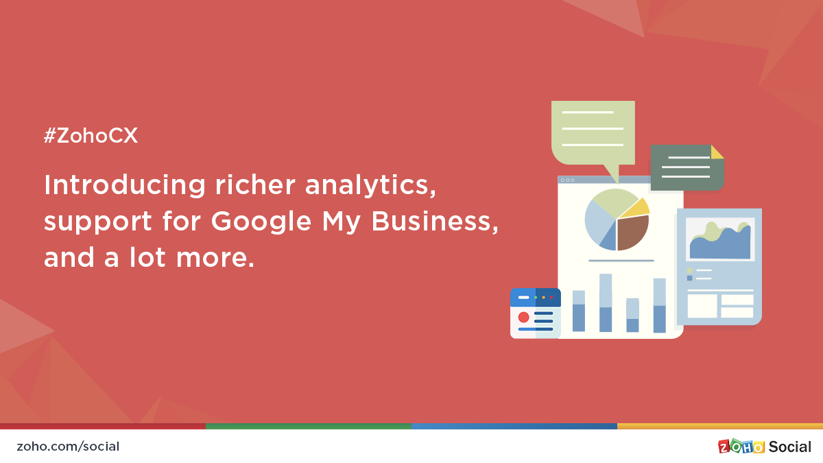 Zoho Social 2018—introducing richer analytics, support for Google My Business, and a lot more