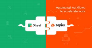 Zoho Sheet's integration with Zapier