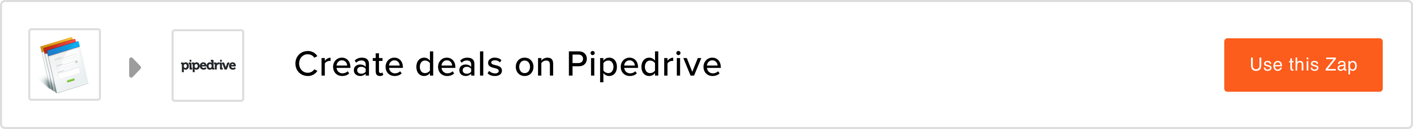 Create deals on Pipedrive