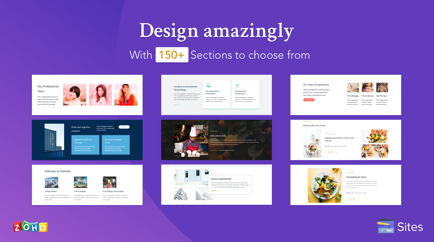 Design your website with ease!