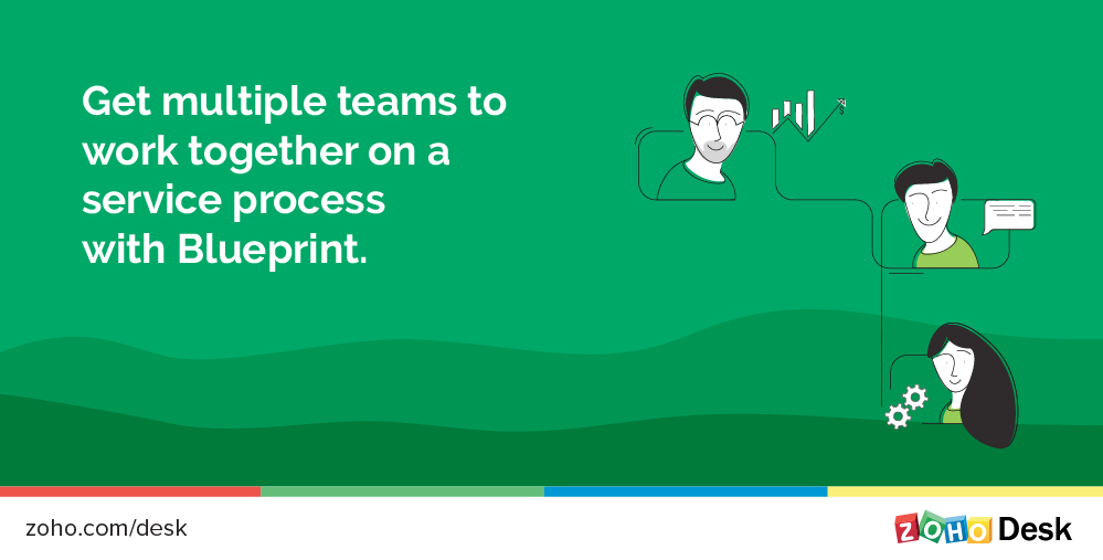 Run service processes right from your help desk, with Blueprint