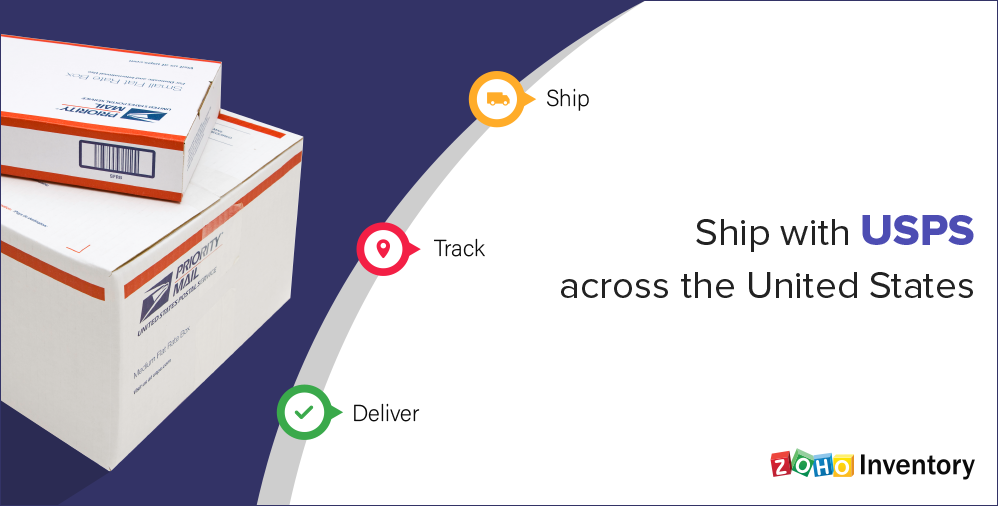 Zoho Inventory integrates with USPS