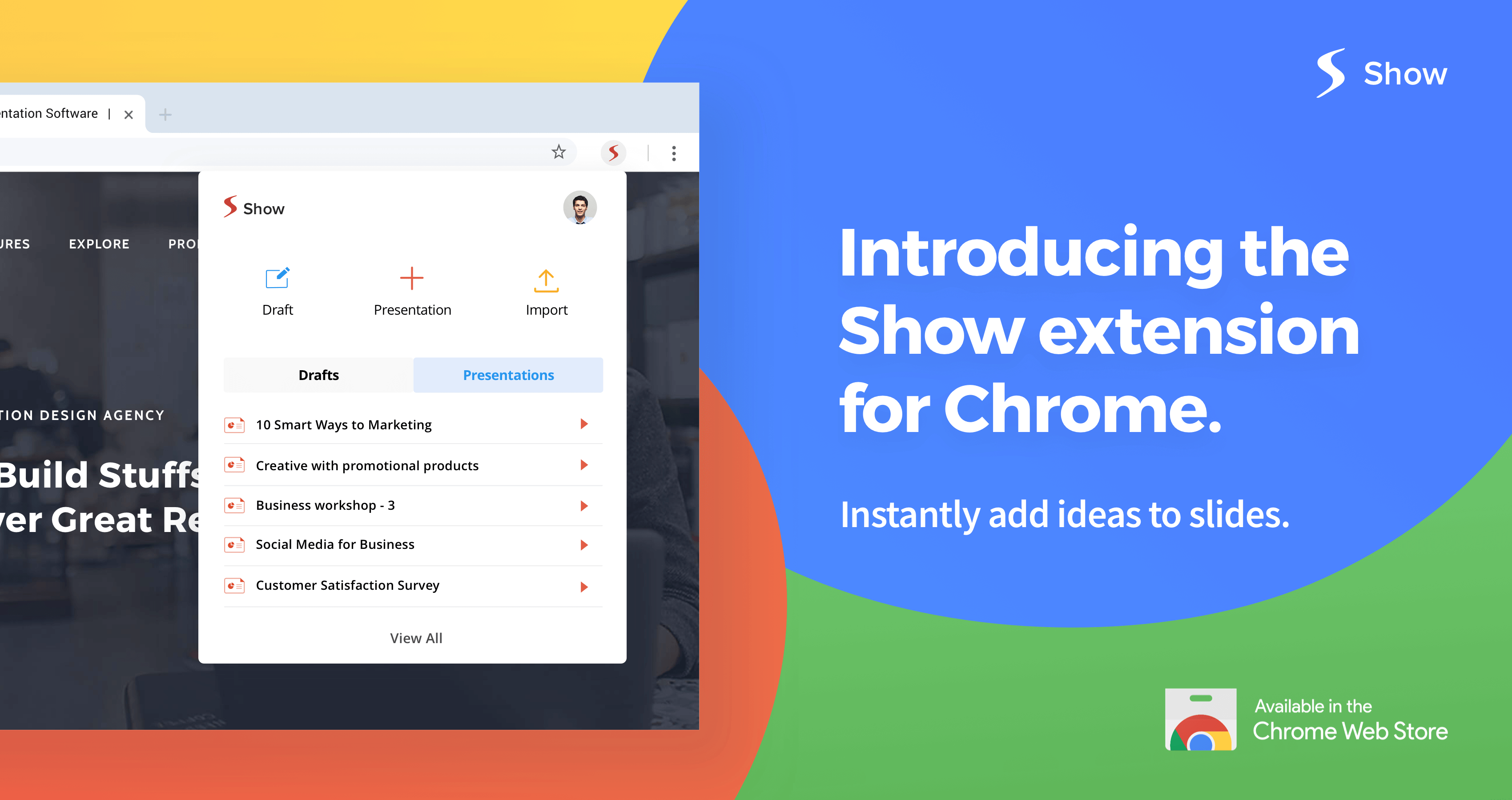 Create and edit presentations right from your browser with Zoho Show's new Chrome extension