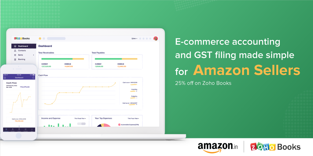GST accounting software Zoho Books