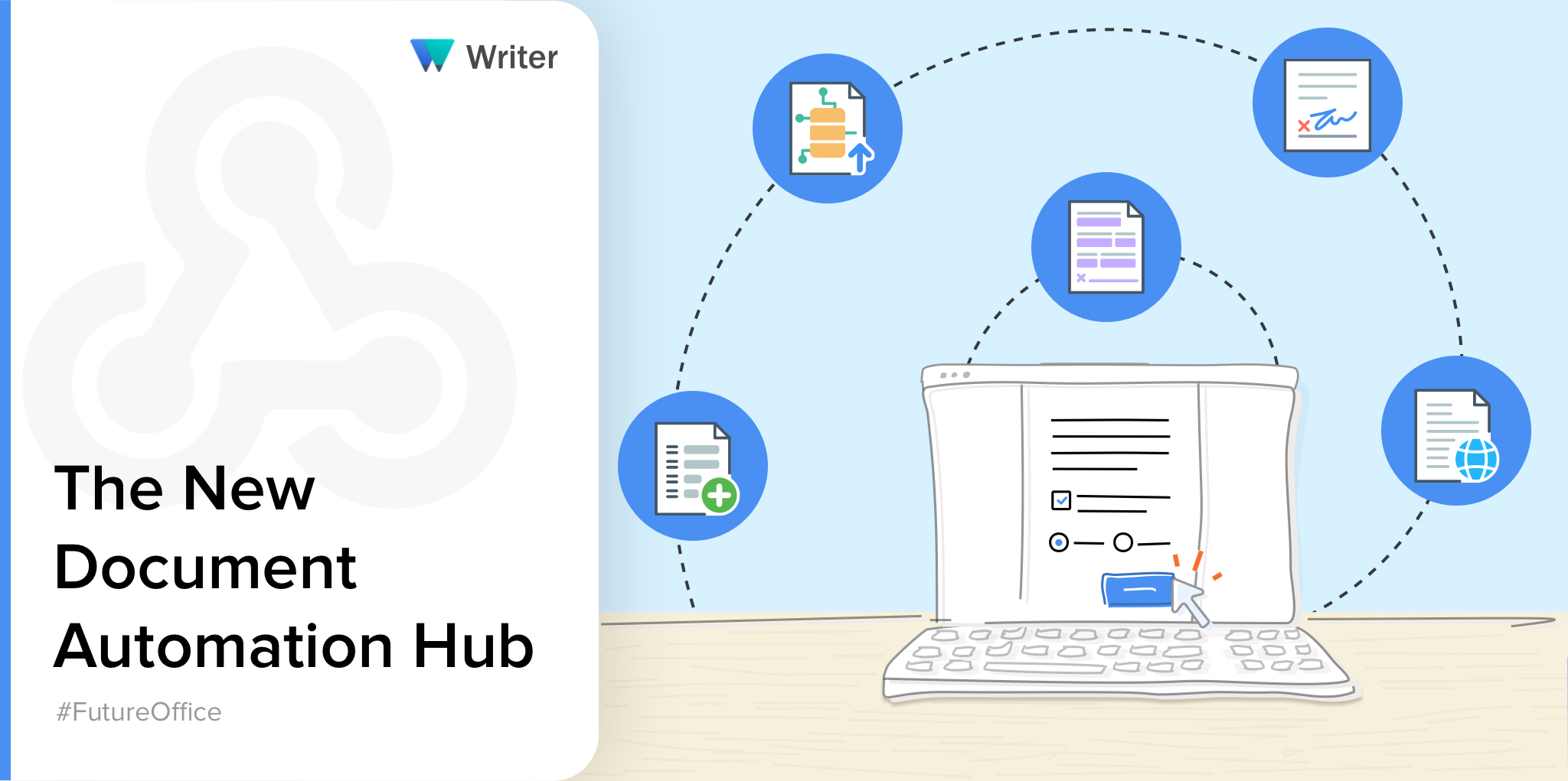Optimize your paperwork digitally—introducing the all-new automation hub in Writer.