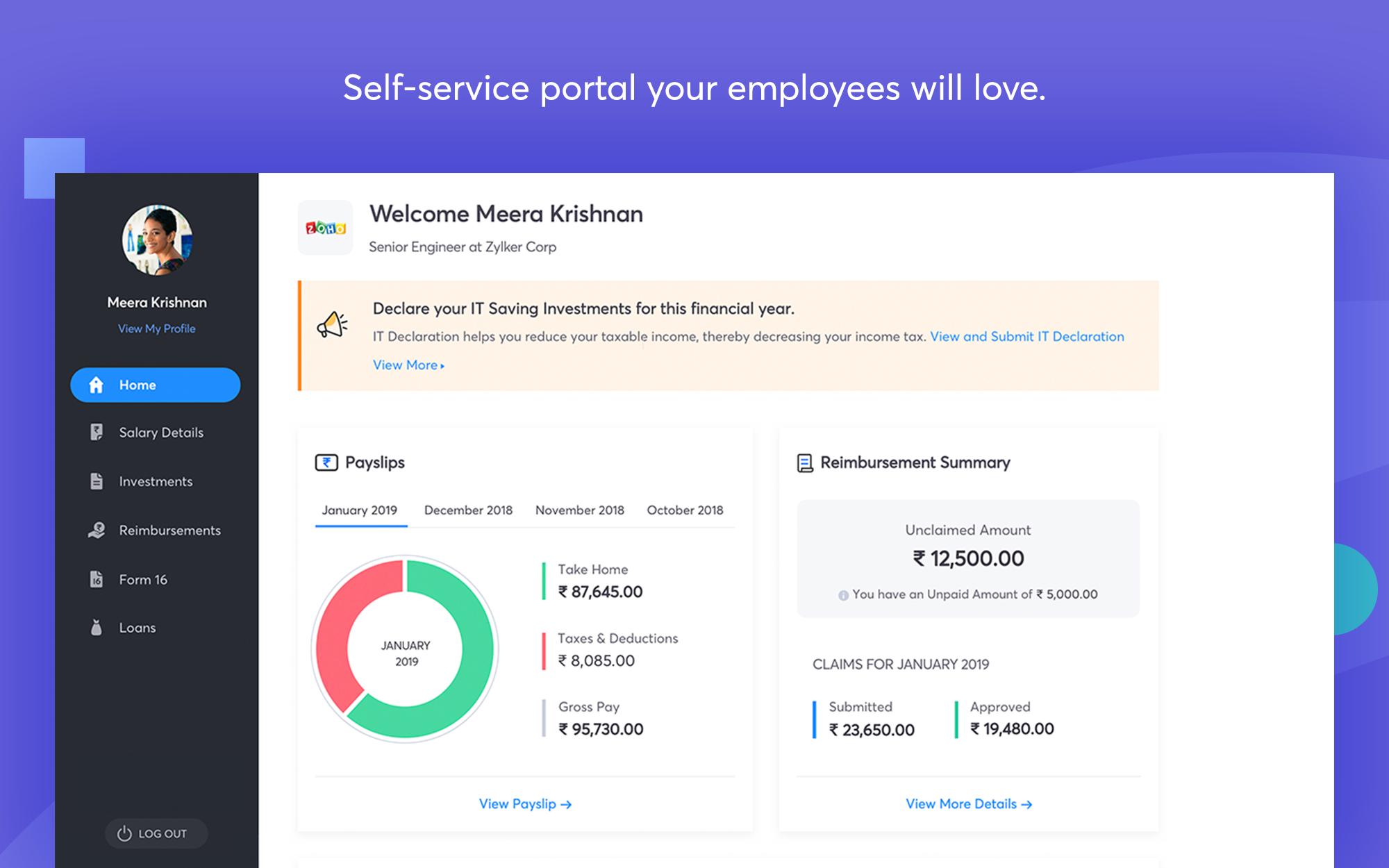 Payroll self-service portal