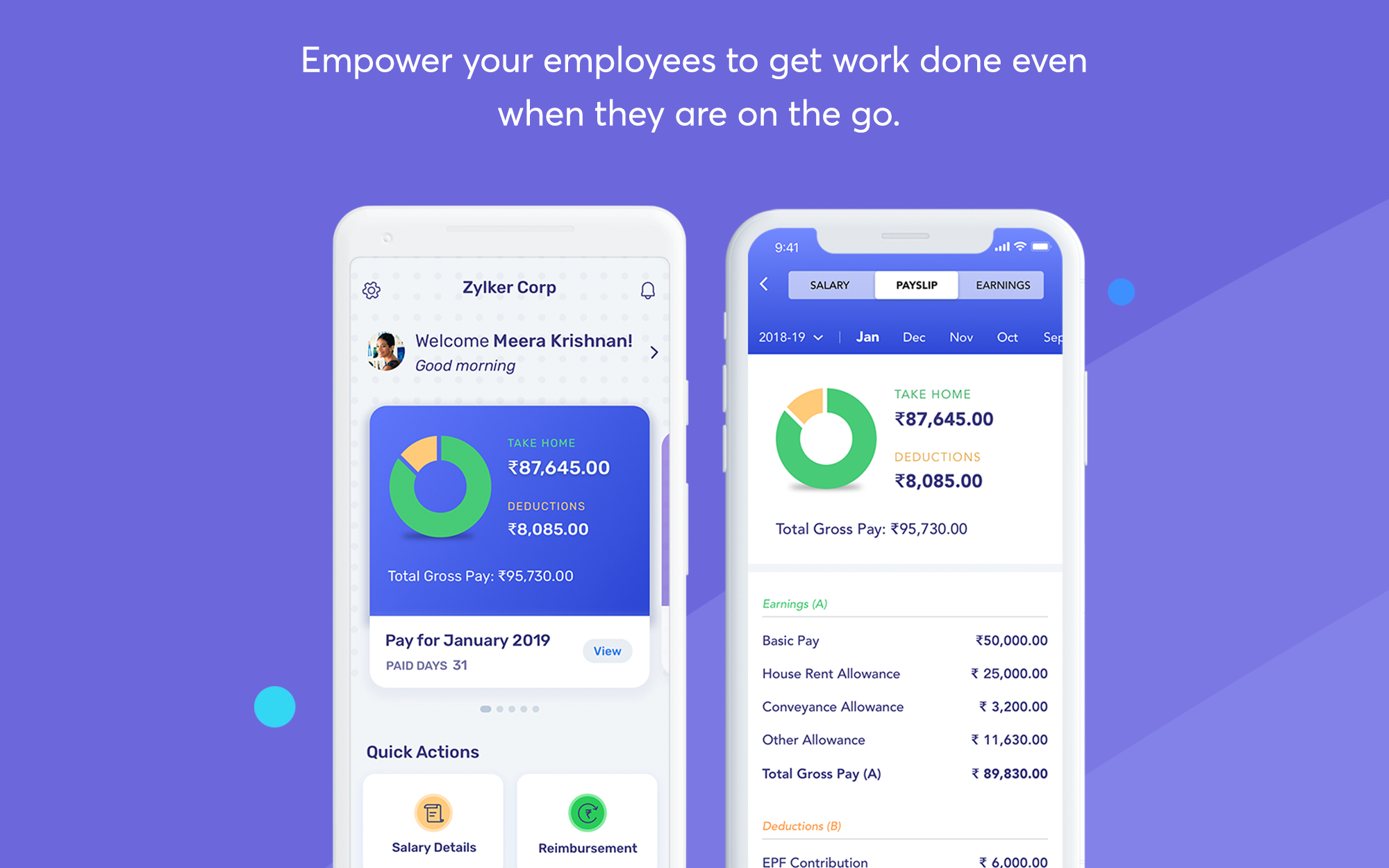Payroll mobile app for employees