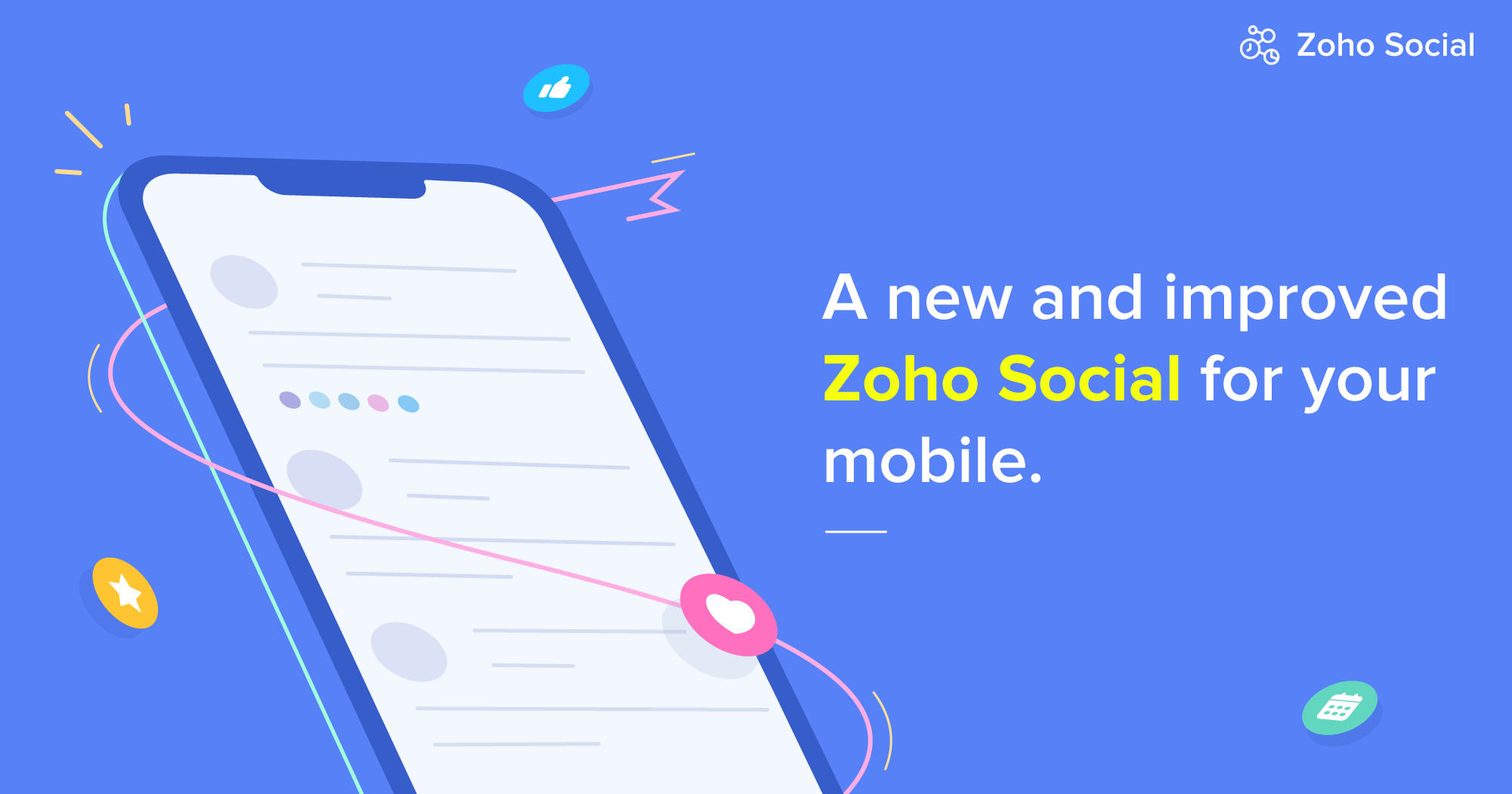 It's finally here!  An all-new Zoho Social for your mobile