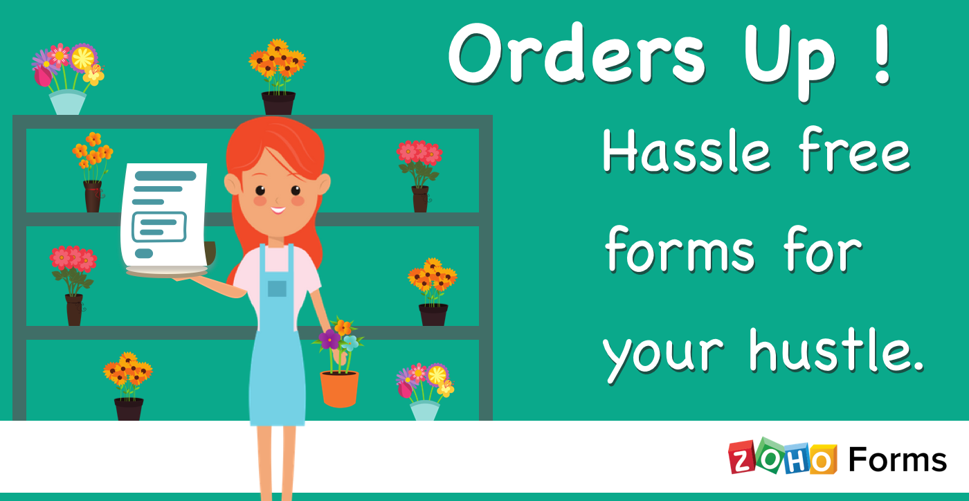 Less hassle, more hustle. Simplifying Online Order forms.