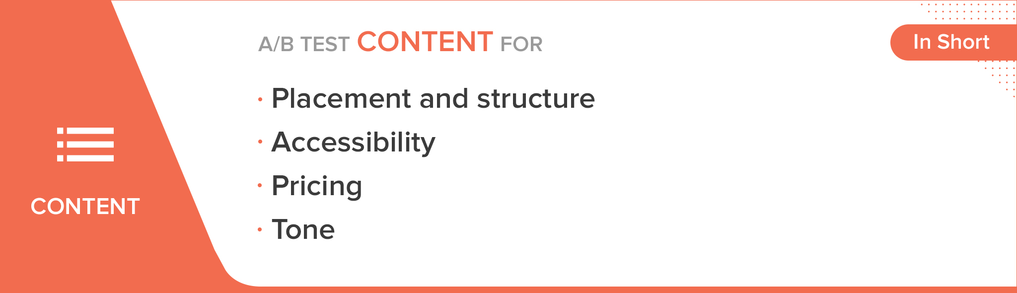 A/B test website content