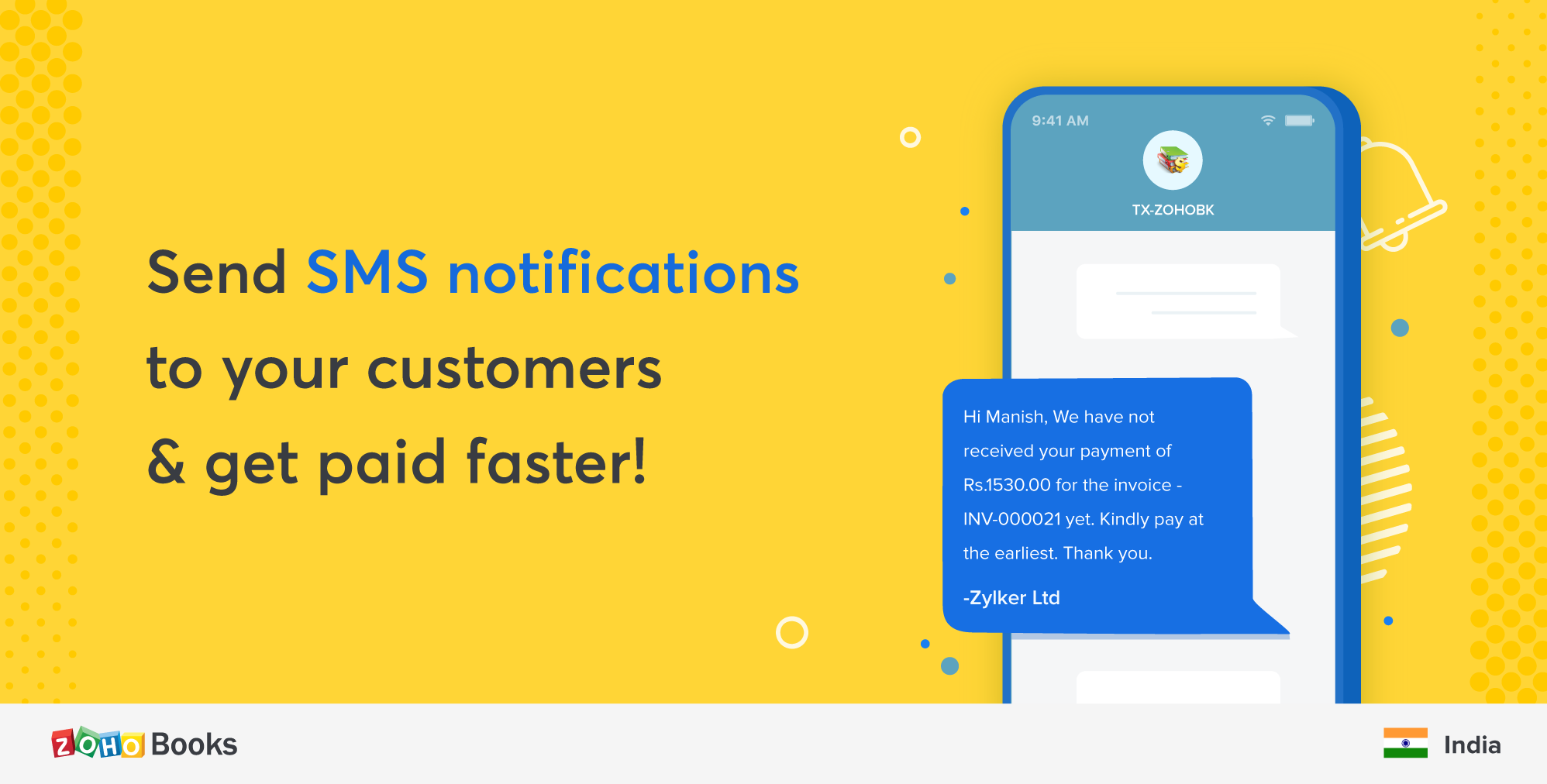 Introducing SMS notifications to collect payments faster