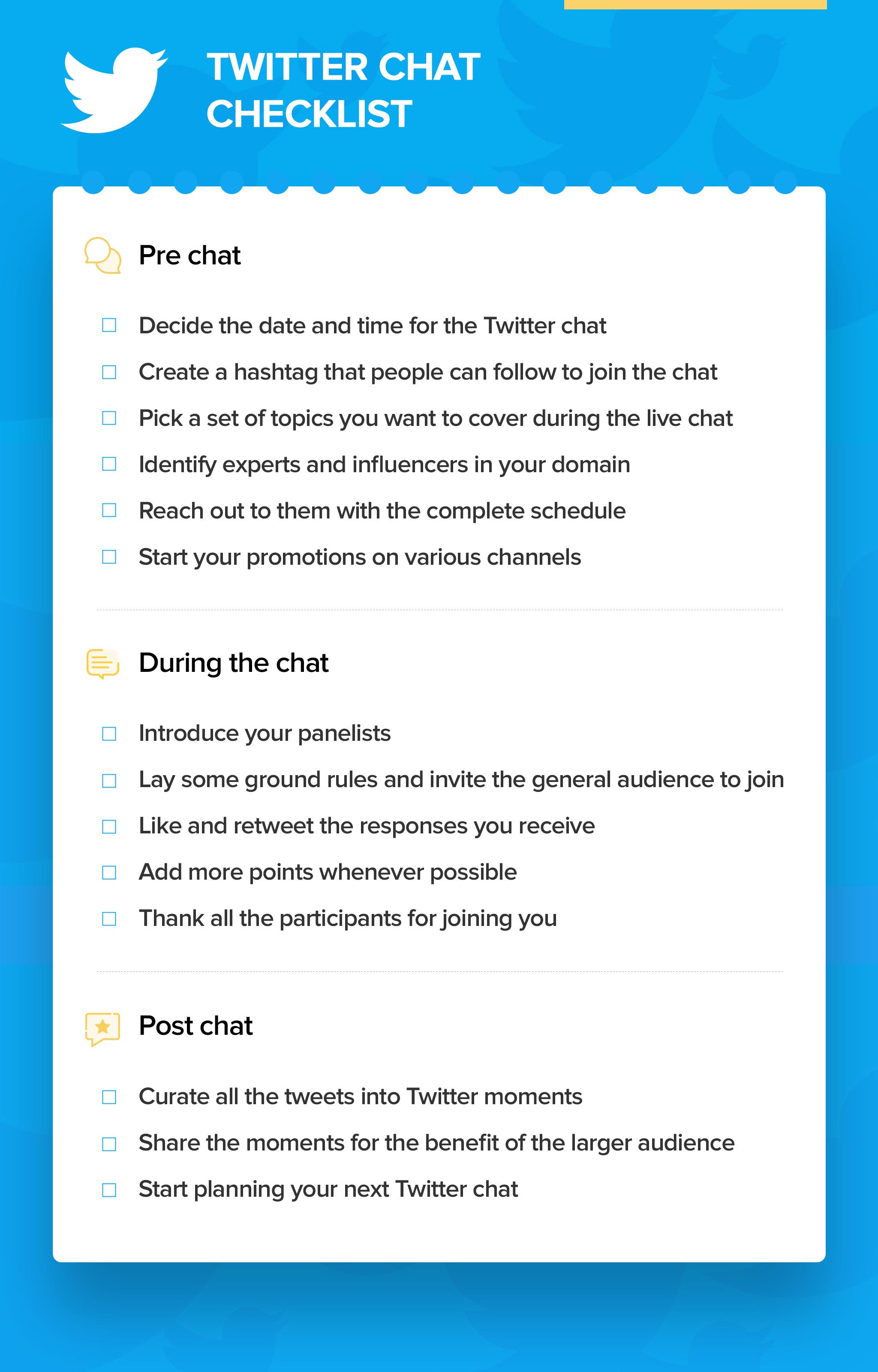 Tweet-chat-checklist