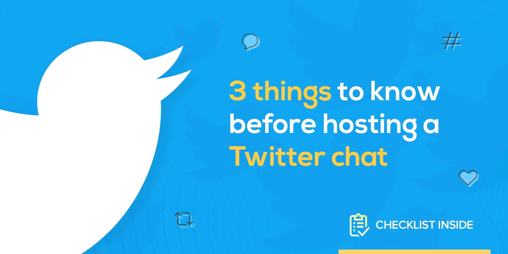 3 things to know before hosting a Twitter chat