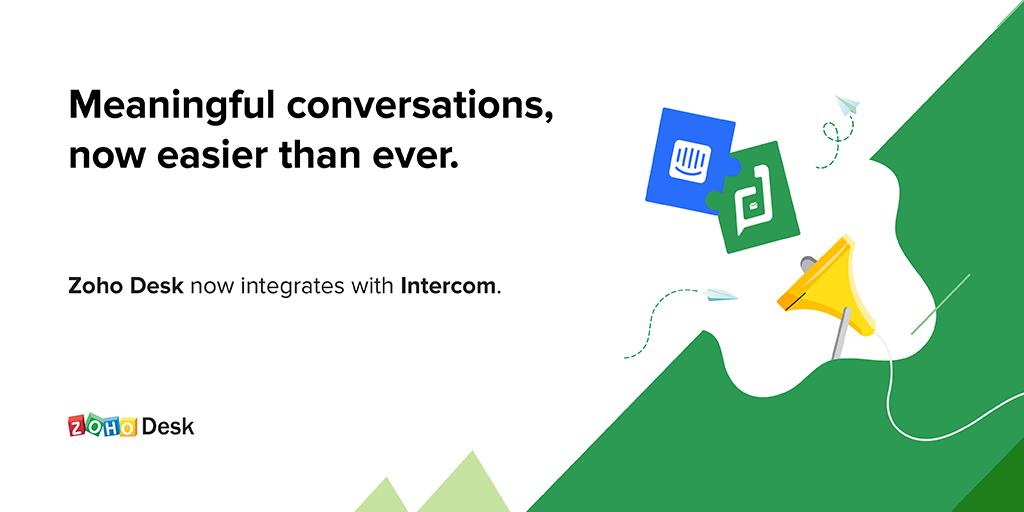Zoho Desk Integrates with Intercom