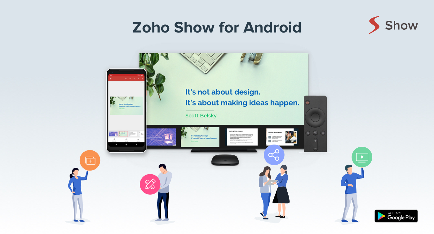 Create presentations on the go – Zoho Show for Android