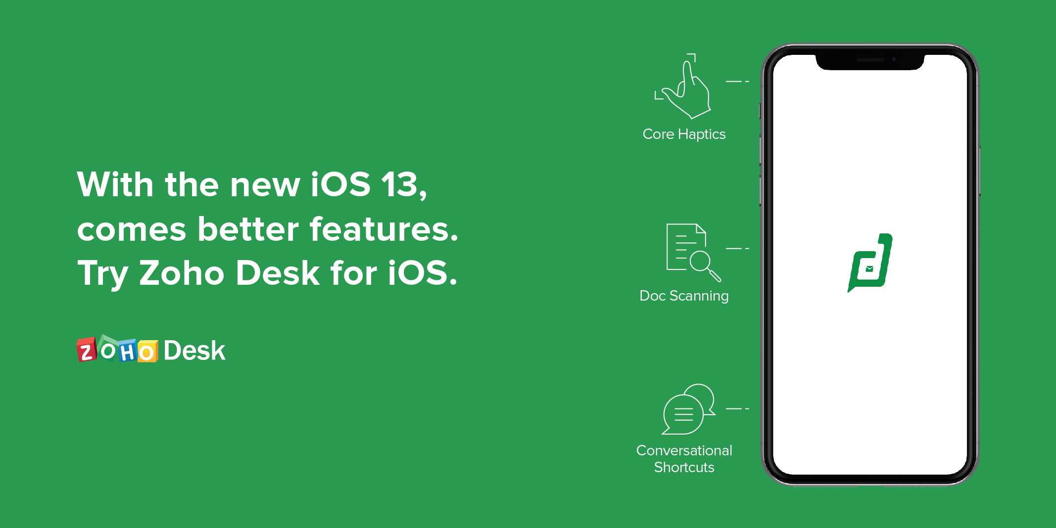 iOS 13 features for better customer experiences with Zoho Desk