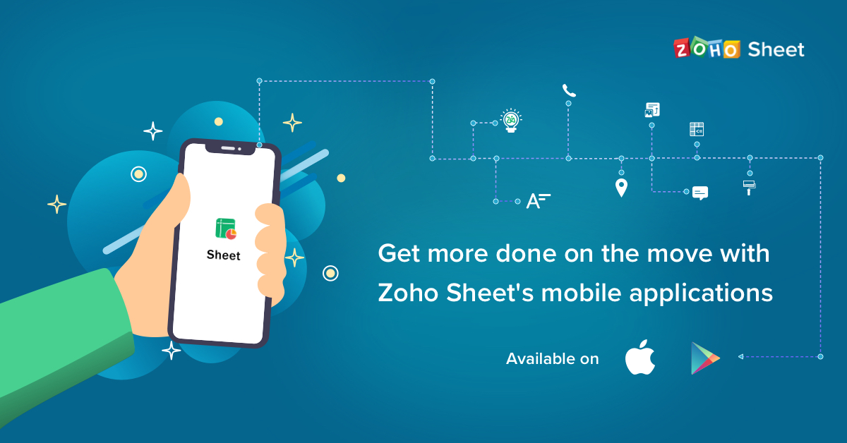 Zoho sheet's mobile applications
