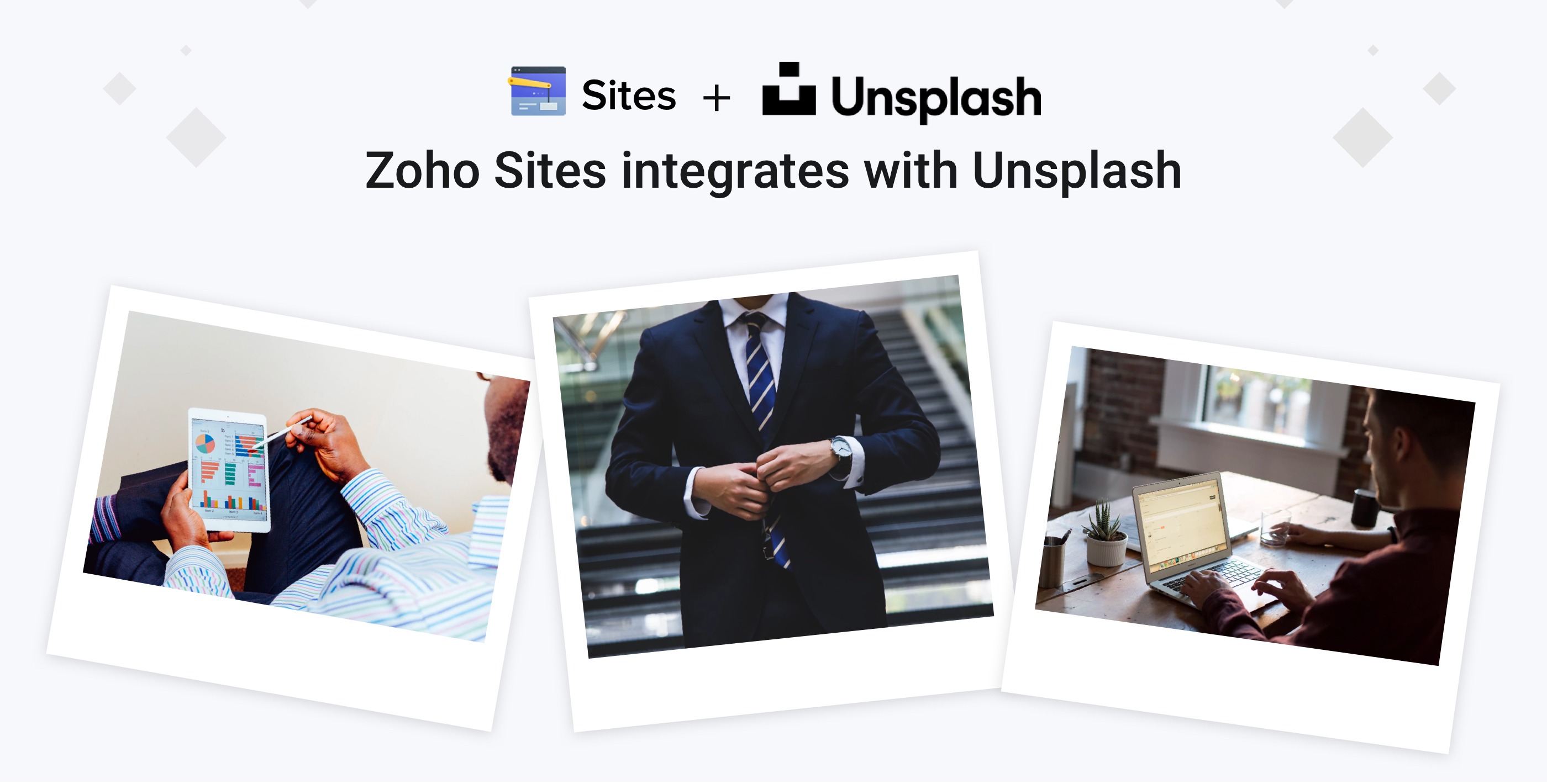 Unsplash— free stock image integration for Zoho Sites