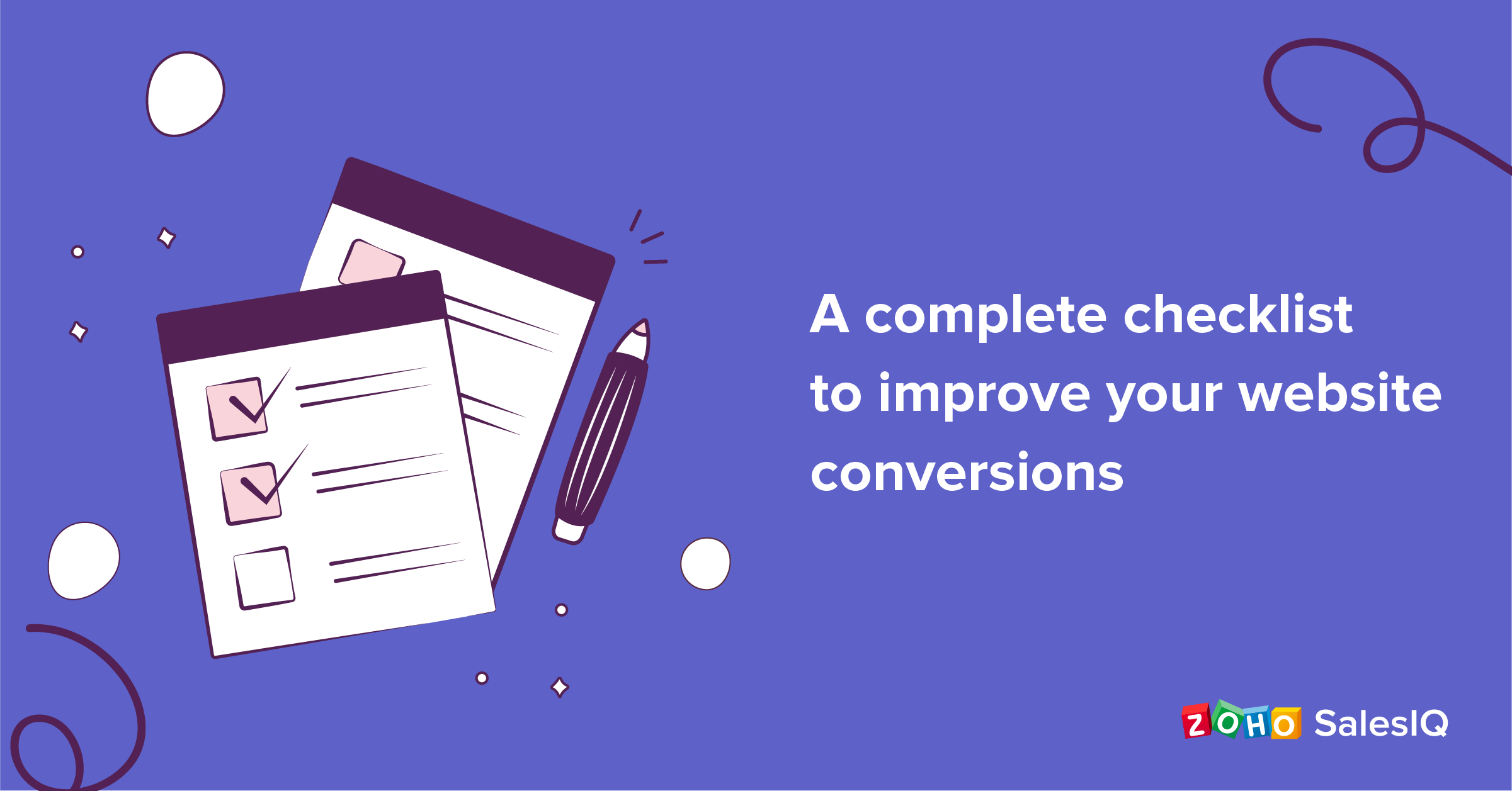 A marketer's checklist to improve website conversions