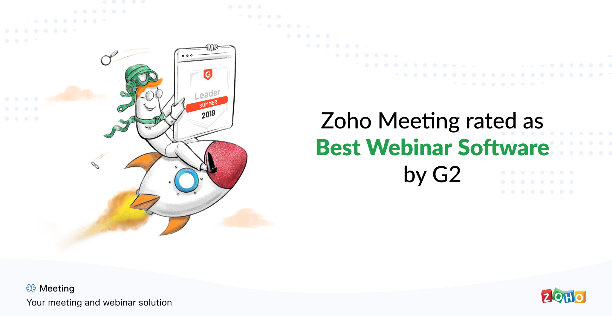 Zoho Meeting rated as Best Webinar Software by G2