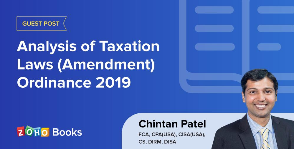 Analysis of Taxation Laws (Amendment) Ordinance 2019