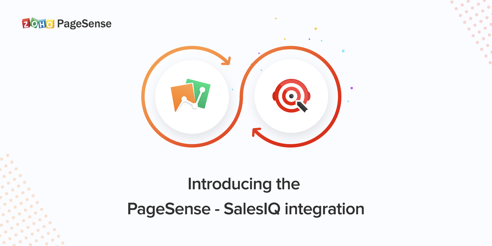 Launching PageSense and SalesIQ integration