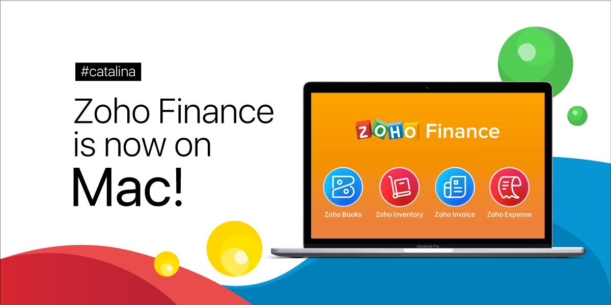 Sayhello to Zoho Financeapps formacOSCatalina
