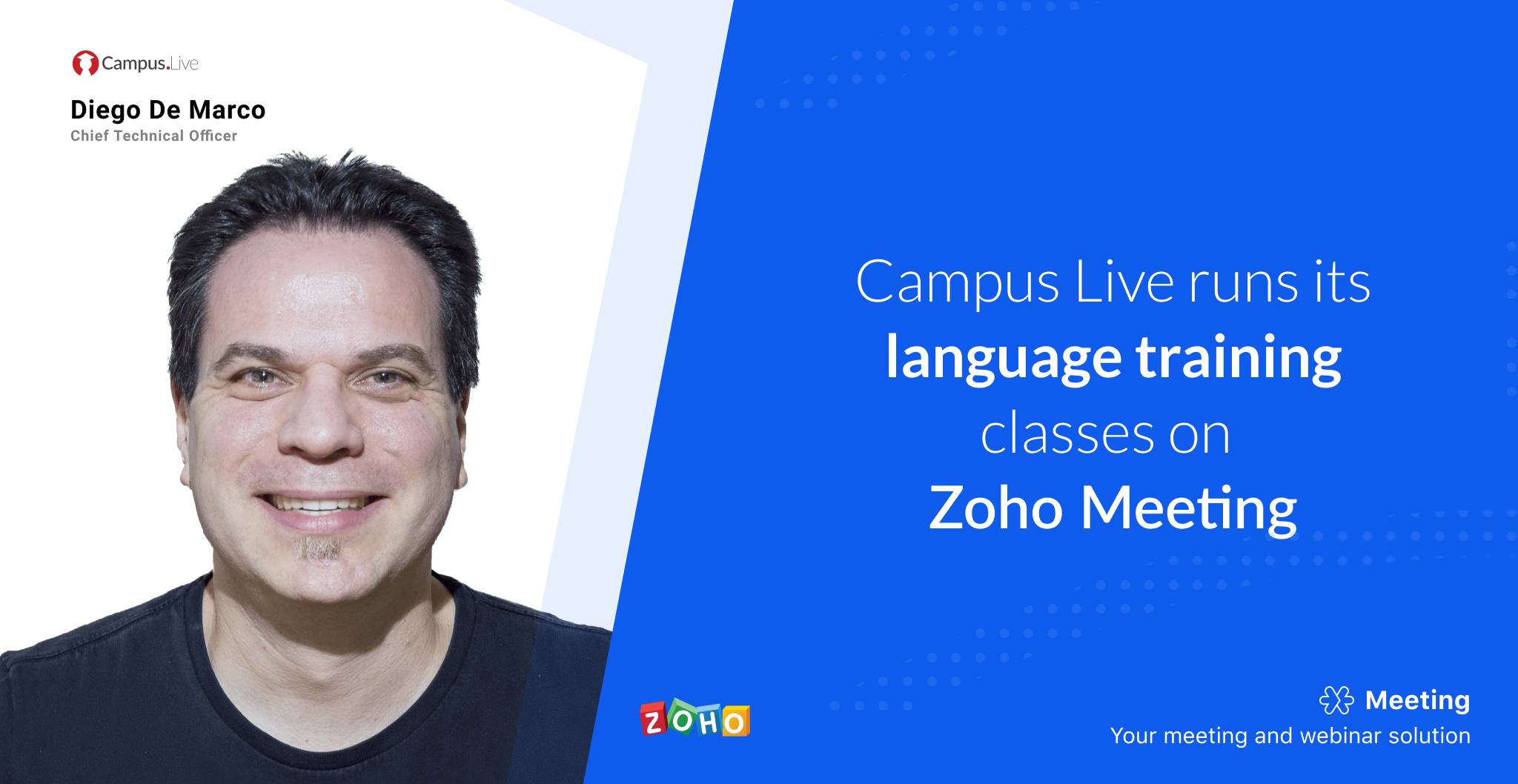 How Campus Live provides    online training with Zoho Meeting