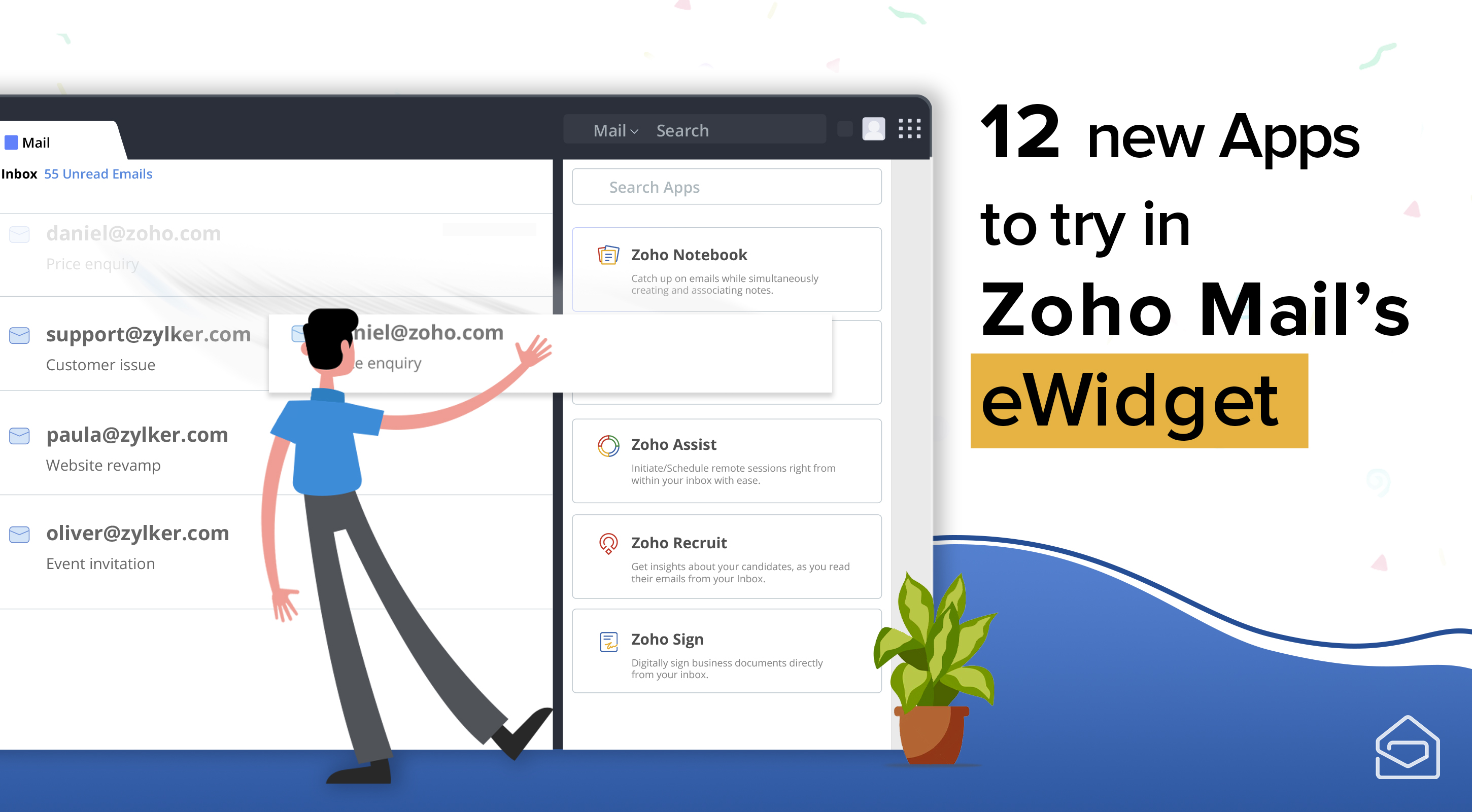 12 new apps to try in Zoho Mail's eWidget