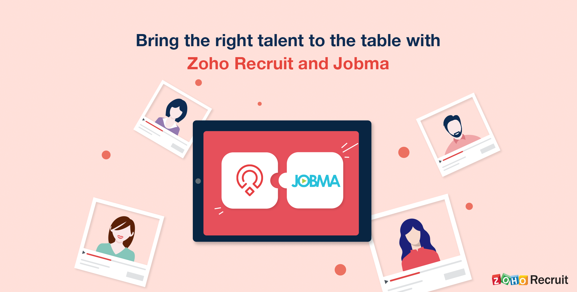Zoho Recruit integrates with Jobma for video interviews