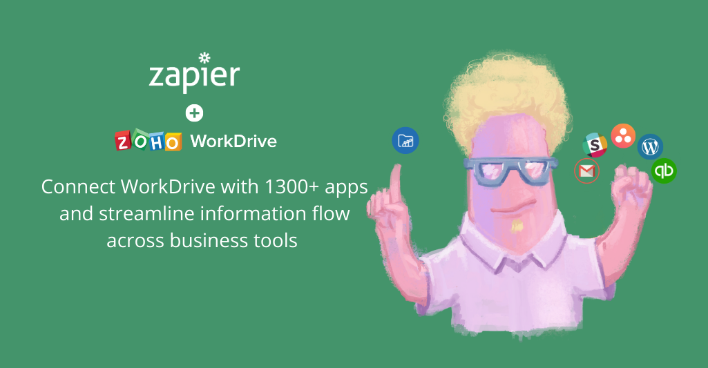 Accelerate productivity with Zoho WorkDrive and Zapier