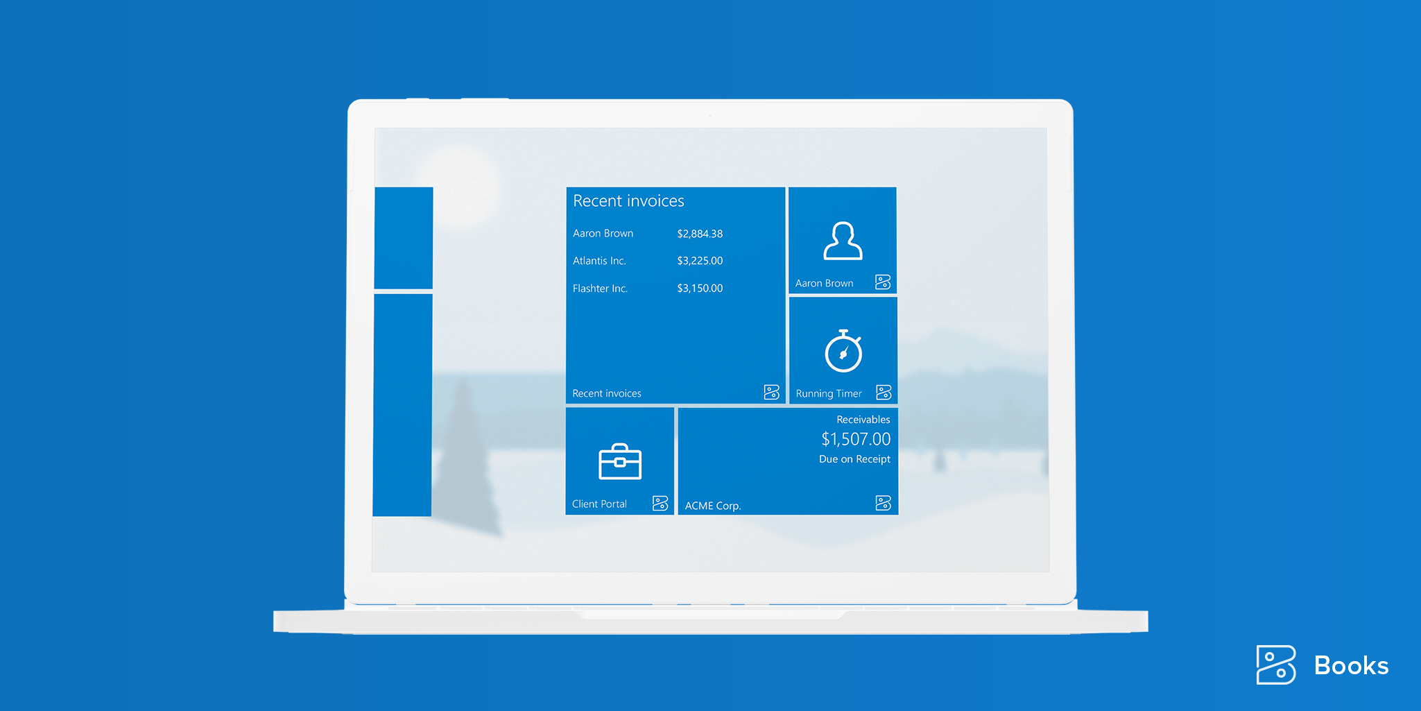 Zoho Books Windows app Live Tiles