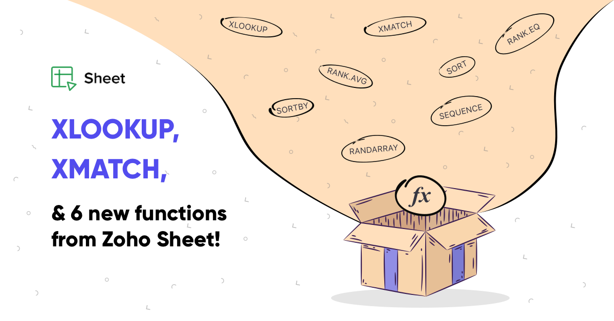 Explore XLOOKUP, XMATCH, and other new functions in Zoho Sheet